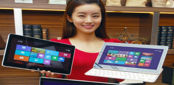LG lanza sus primeros productos Windows 8: un All in One y una tableta tipo slider
